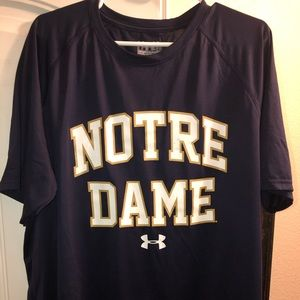 Under Armour Navy Notre Dame T-shirt